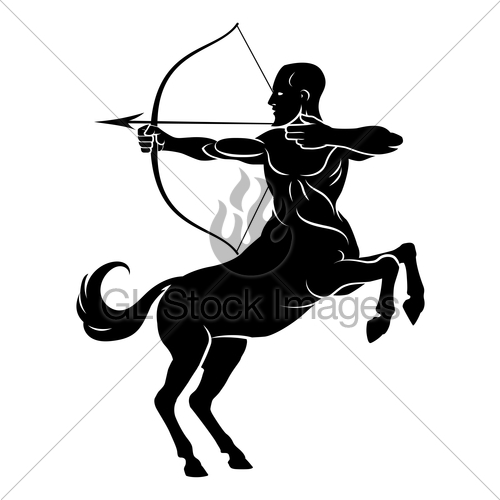 500x500 Centaur With Bow And Arrow Gl Stock Images