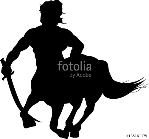 500x469 Centaur Vector Silhouette Stock Image And Royalty Free Vector