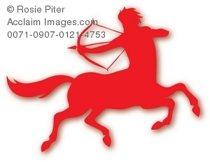300x232 Red Silhouette Of Male Centaur Clipart Amp Stock Photography