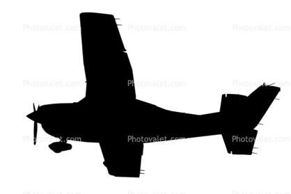 418x279 Cessna 182t Skylane Silhouette, Shape Images, Photography, Stock