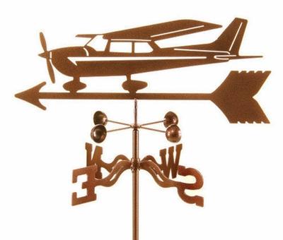 400x340 Cessna Style Airplane Weather Vane Airplane Wind Vane Decor
