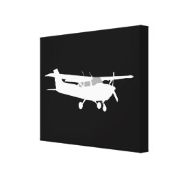 260x260 Aircraft Silhouette Wrapped Canvas Prints Zazzle