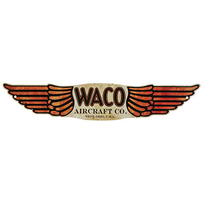 400x400 Vintage Aircraft Logo Silhouette Metal Signs