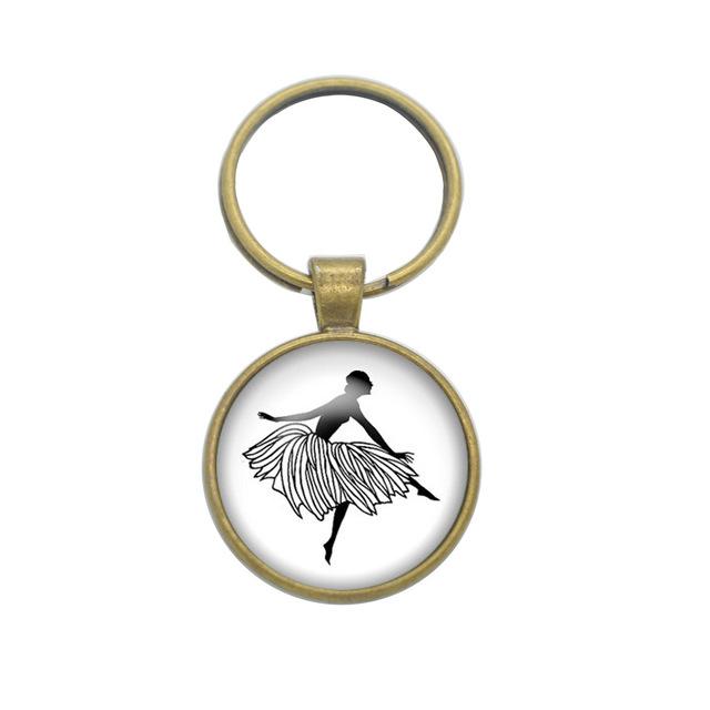 640x640 1pcslot Dancer Key Chain Original Cute Silhouette Keyring