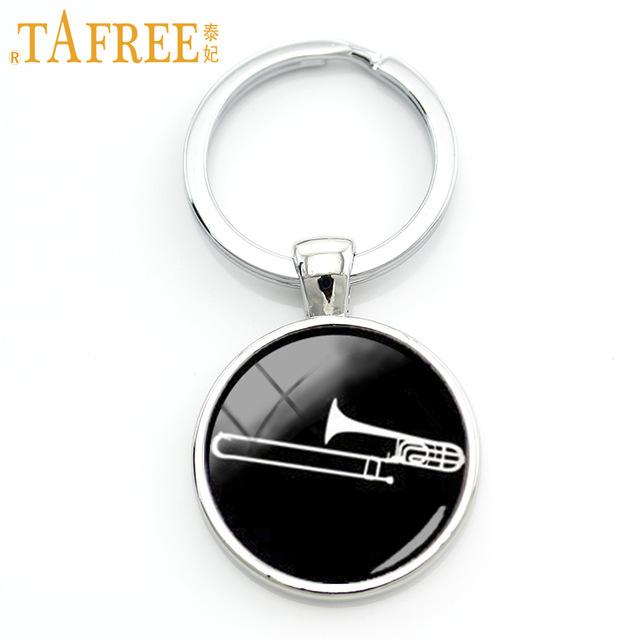 640x640 Tafree 2017 Musical Instrument Silhouette Keychain Trombone Key