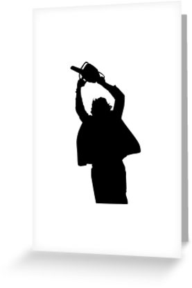 277x415 Chainsaw Massacre Silhouette Greeting Cards By Firstradiant