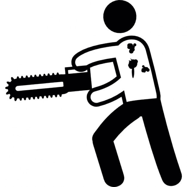 626x626 Man With A Chainsaw Icons Free Download