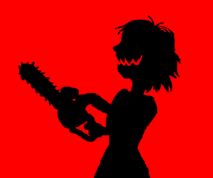 300x250 Of Insane Woman With Chainsaw