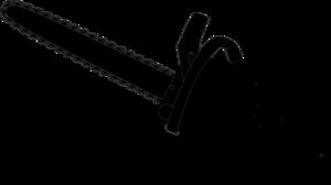 300x168 Chainsaw Black Outline Clip Art