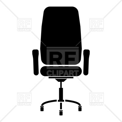 400x400 Office Chair Silhouette Royalty Free Vector Clip Art Image