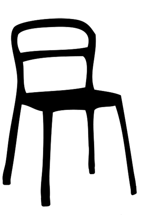 496x709 Silhouette Of Chair Muebles Silhouettes, Skyline