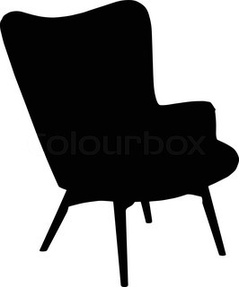 266x320 Chair And Table Silhouette Vector Stock Vector Colourbox