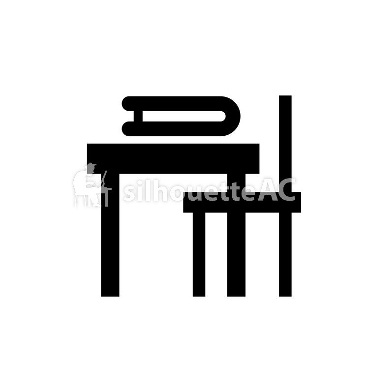 750x750 Free Vector Silhouettes Icon, Simple, Chair, Chair, Table, Desk