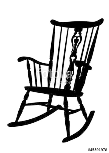 Charmant Rocking Chair Silhouette. Beautiful Silhouette 357x500 Vintage Rocking Chair  Stencil Throughout Silhouette R