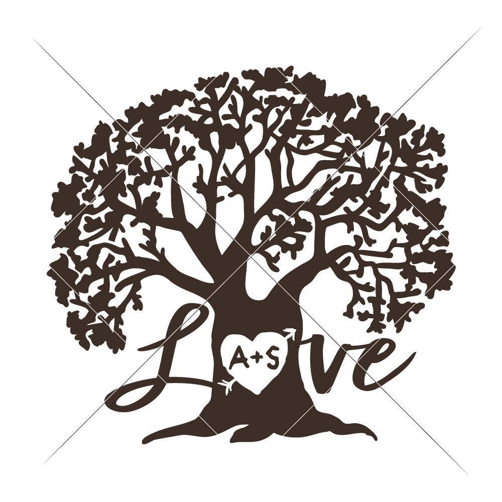 1000x1000 Love Tree Svg Png Dxf Eps Chameleon Cuttables Llc