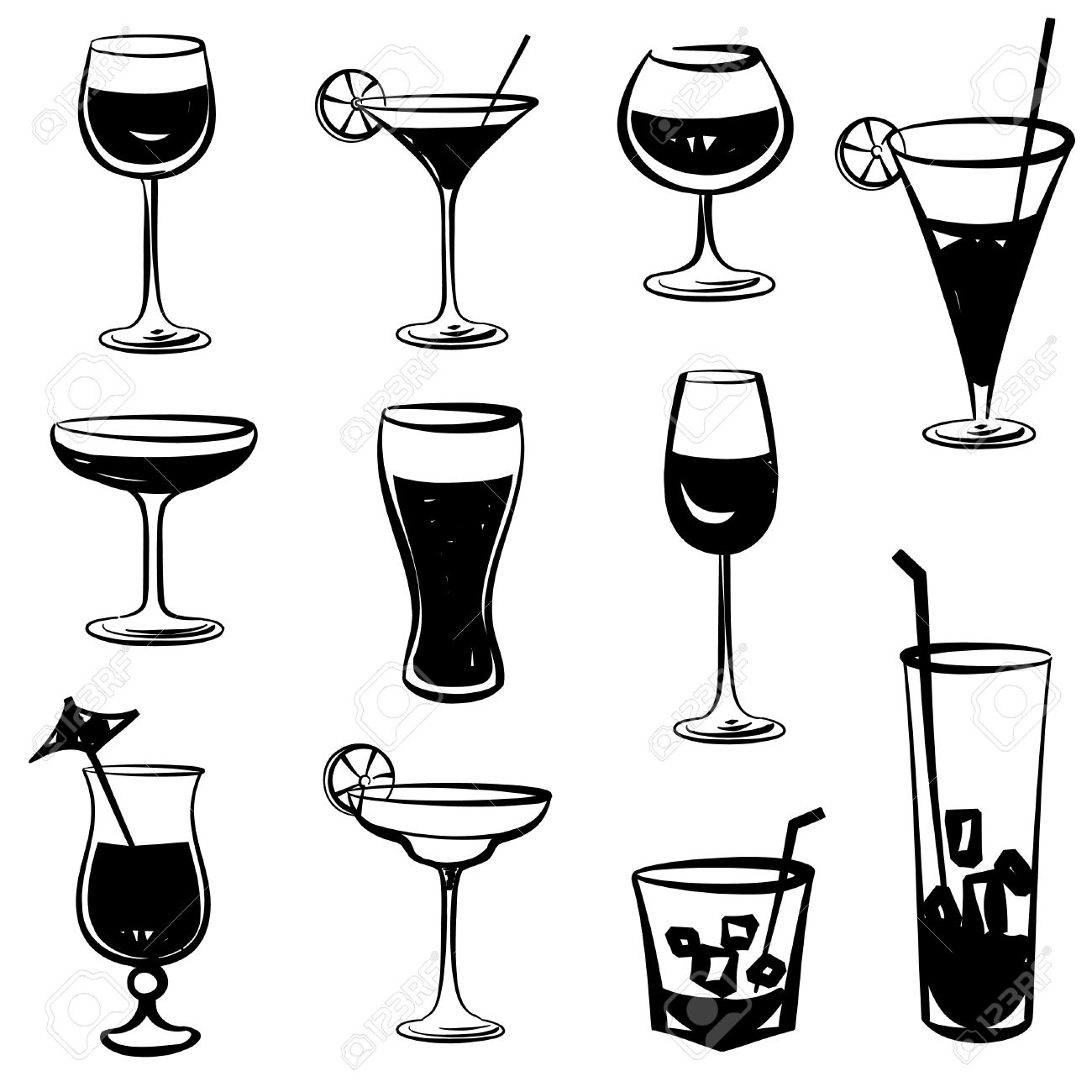 1300x1300 Drink Clipart Silhouette