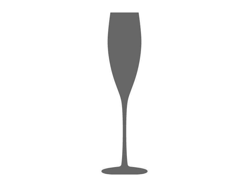 800x600 Champagne Glass Stencil