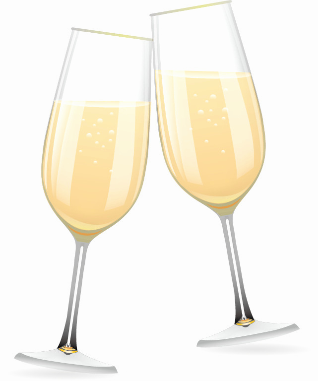 641x768 Champagne Glass Vector Awesome Deux Verres De Champagne Silhouette