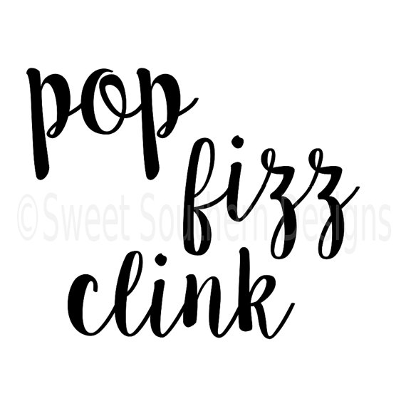 570x570 Pop Fizz Clink Bridal Champagne Glasses Label Svg Instant Download