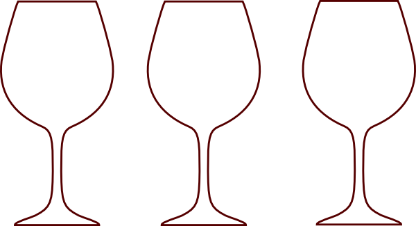600x327 Set Of Cocktail Silhouette Glasses Clipart Vector
