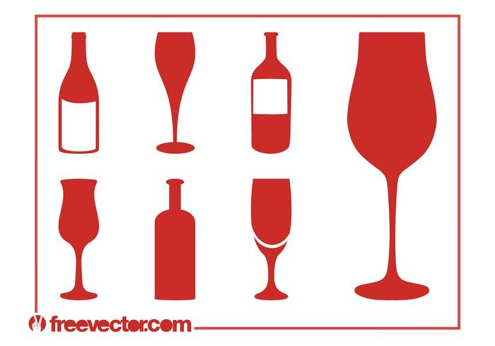 700x490 Wine Silhouettes Set