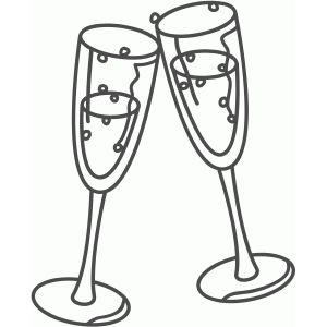 300x300 Champagne Glasses Champagne Glasses, Silhouette Design