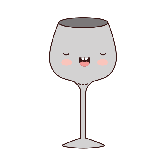 550x550 Glass Of Champagne Sour Colorful Kawaii Silhouette