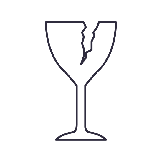 550x550 Isolated And Silhouette Broken Cup Design