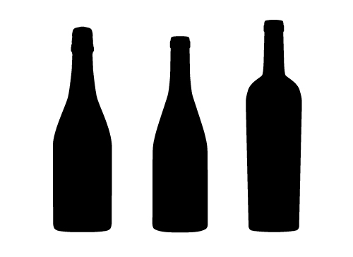 500x364 Bottle Clipart Silhouette 3092053