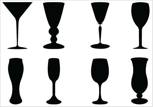500x350 Wine Glass Silhouette Vector Beverage Glassessilhouette Clip Art