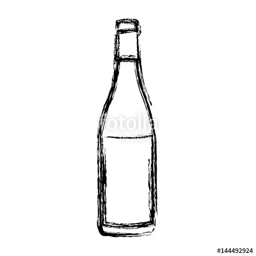 500x500 Blurred Silhouette Champagne Bottle With Label Vector Illustration