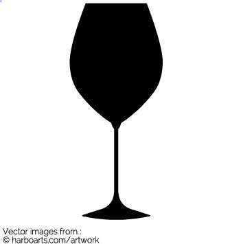 335x355 Download Red Wine Glas Silhouette