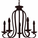 150x150 Lighting ~ Silhouette Clipart Chandelier Pencil And In Color
