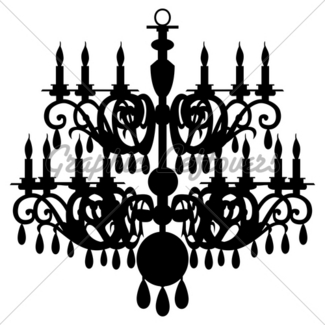 325x325 Vector Chandelier Silhouette Gl Stock Images