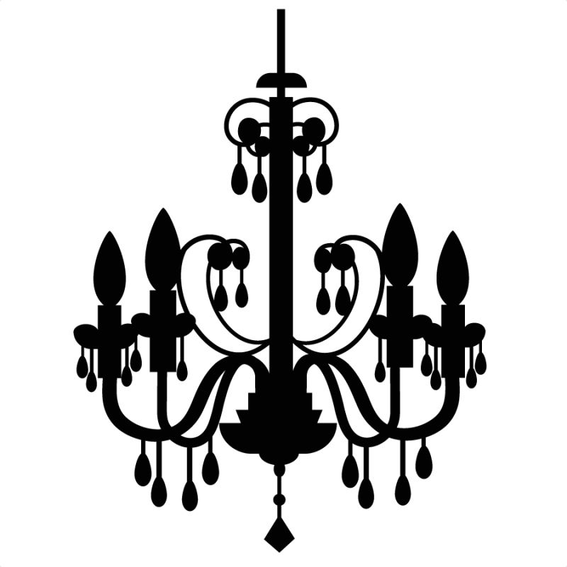 800x800 Chandelier Silhouette Vinyl Files Svg Clipart