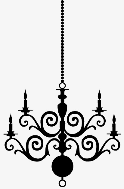 412x624 Classical Chandelier Silhouette Vector Material, Light, Sketch