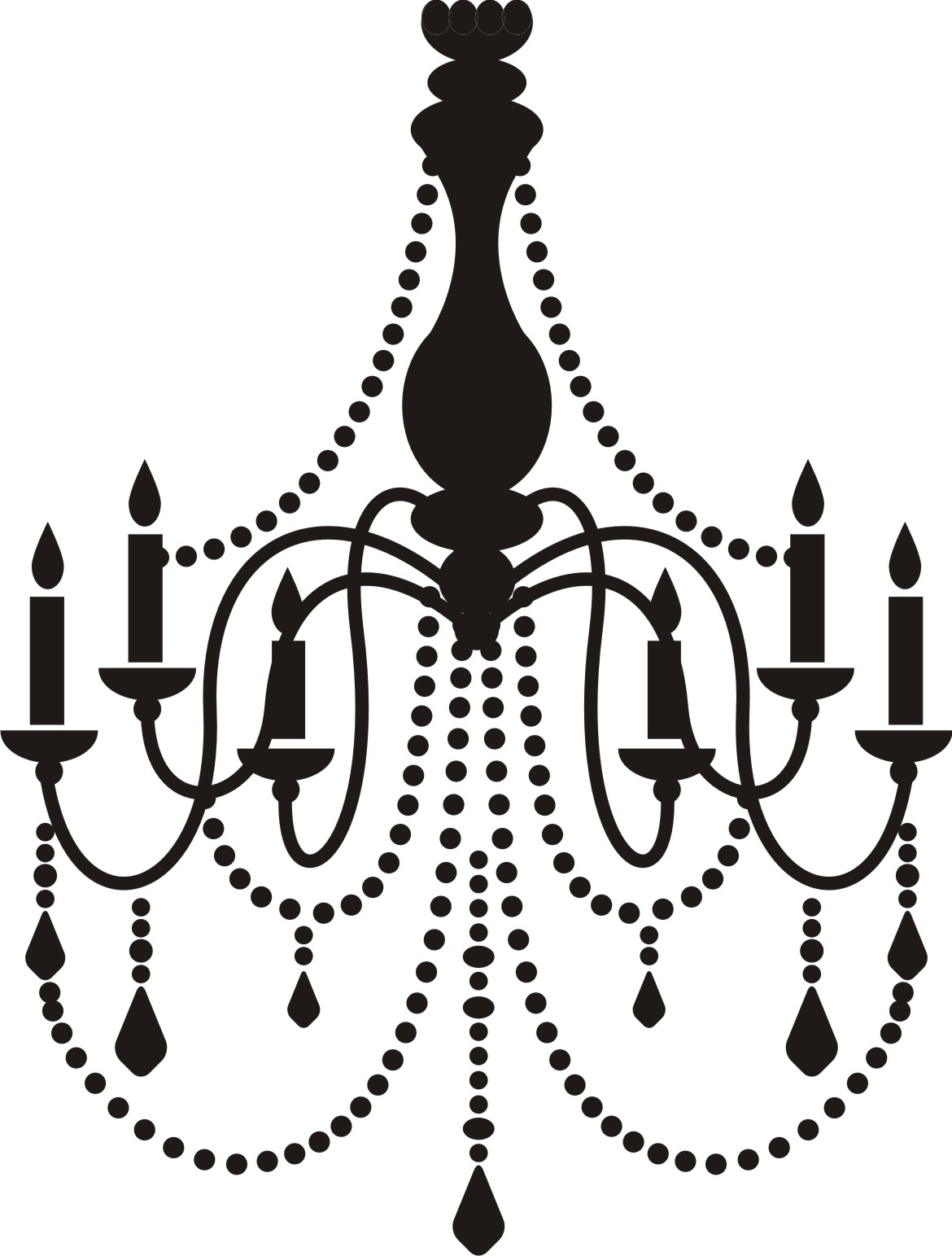 Chandelier silhouette vector at getdrawings free for personal 1170x1543 clip art black chandelier clip art aloadofball Images