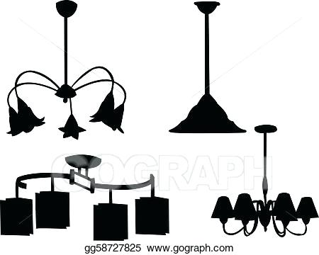 450x360 Black Chandelier Clip Art Vector Chandelier Silhouette Stock
