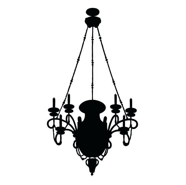 615x611 Simple Chandelier Silhouette The Set Of Vector Chandelier