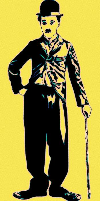 350x700 A Pop Art Painting Of Hollywood Icon Charlie Chaplin, In His
