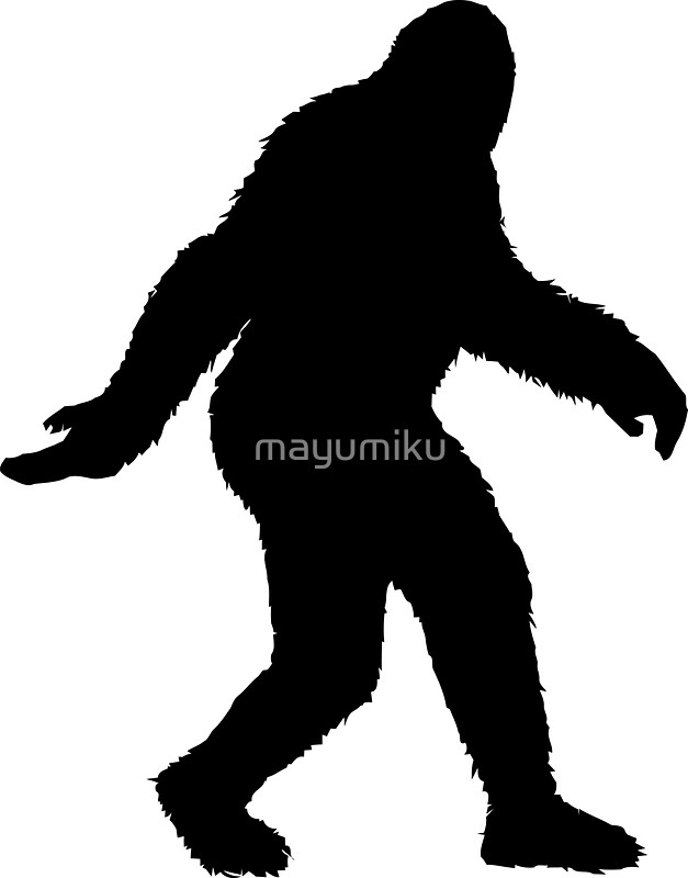 627x800 Bigfoot Clipart Silhouette 3070022