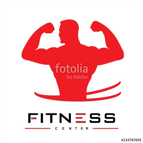 500x500 Man Of Fitness Silhouette Character Vector Design Template