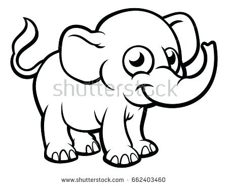 450x366 Cool Black Outline Elephant Tattoo Stencil By Frog Outline