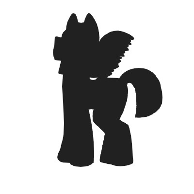 400x400 Equius Zahhak (God Tier Pony Silhouette) By That Blue Fennec Fox