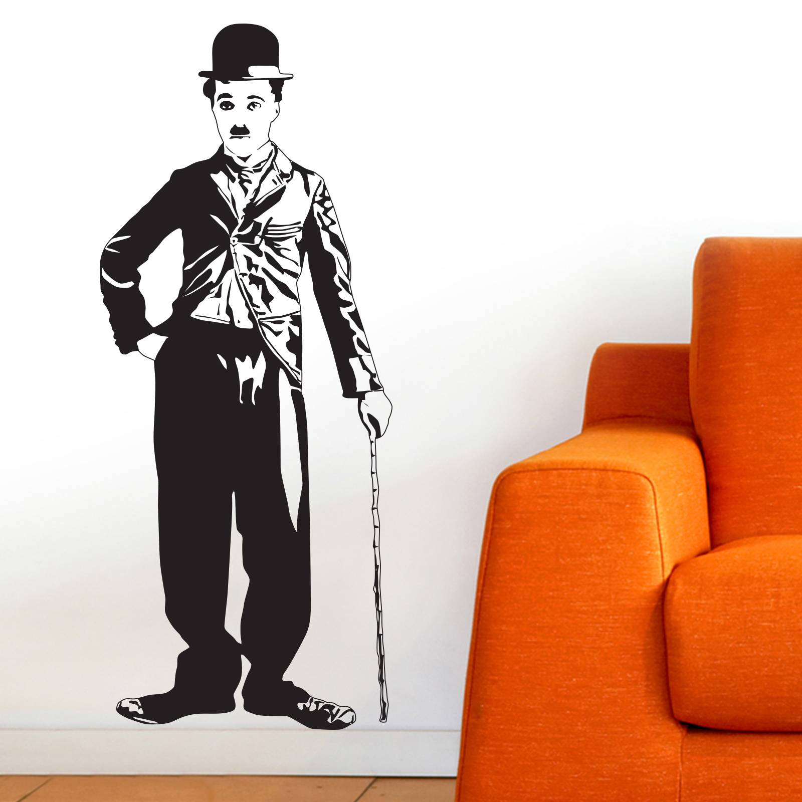 1600x1600 Charlie Chaplin Silhouette Wall Sticker Wall Stickers