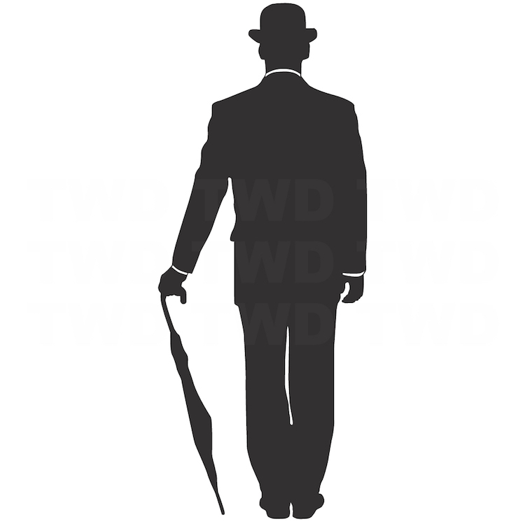 750x749 Charlie Chaplin Wall Decal Vinyl Wall Decals Removable
