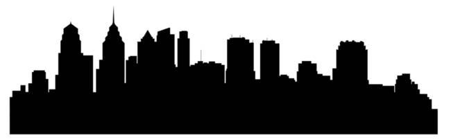 650x202 Cityscape Clipart Philadelphia Skyline