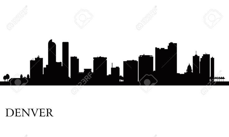 736x441 Denver Mountain Skyline Silhouette