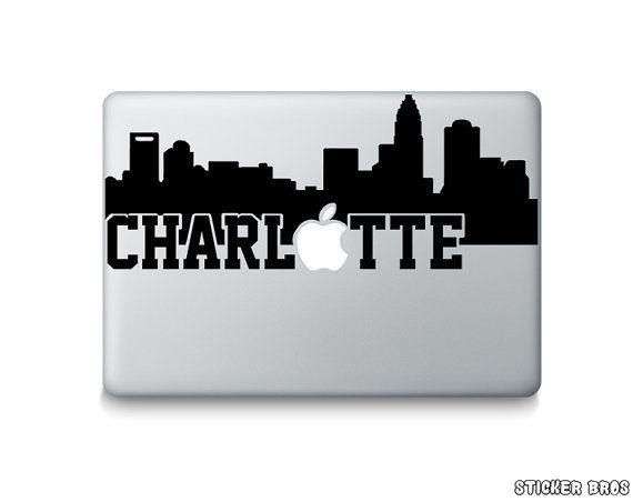 570x452 Charlotte Skyline Silhouette Macbook Decal By Stickerbrosdecals