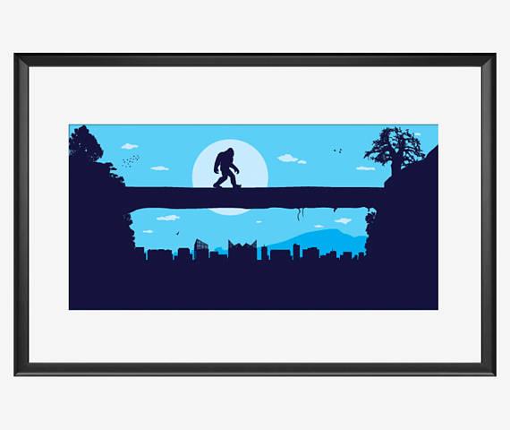 570x480 Chattanooga Skyline Chattanooga Print Chattanooga Art